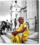 Old Indian Woman Acrylic Print