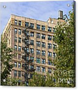 Old Iron Fire Escape Chicago Il Acrylic Print by Christine Till