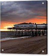 Old Jennettes Pier Acrylic Print