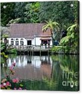 Old Lake With An Old Hut Acrylic Print