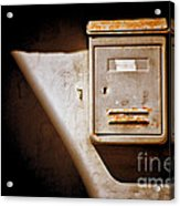 Old Mailbox With Doorbell Acrylic Print