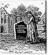 Old Man At Tombstone Acrylic Print