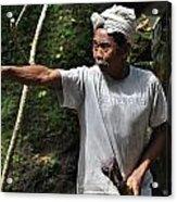 Old Man In Bali Acrylic Print