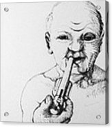 Old Man Acrylic Print by Louis Gleason