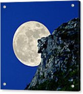 Old Man Meets The Man In The Moon Acrylic Print