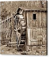 Old Mill In Sepia Acrylic Print