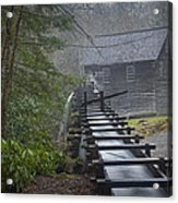 Old Mill In The Smokey Mountains Acrylic Print