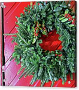 Old Mill Of Guilford Door Wreath Acrylic Print
