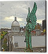 Old Montreal Angel Acrylic Print