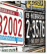 Old Nebraska Plates Acrylic Print