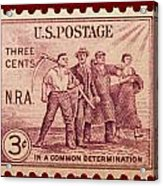 Old Nra Postage Stamp Acrylic Print
