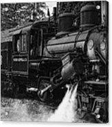 Old Number Three_climax Locomotive_durbin Wv _bw Acrylic Print