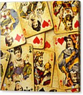 Old Playing Cards Acrylic Print