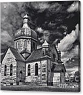 Old Prairie Church And Storm Front Acrylic Print