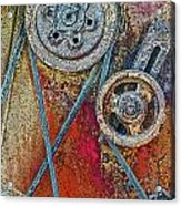 Old Pulleys Acrylic Print