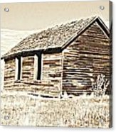 Old Ranch Hand Cabin L Acrylic Print