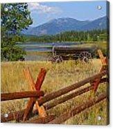 Old Ranch Wagon Acrylic Print