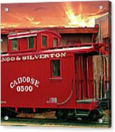 Old Red Caboose 500 Acrylic Print