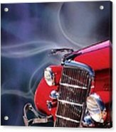 Old Red Hotrod Acrylic Print by Diana Shively