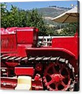 Old Red Tractor Acrylic Print