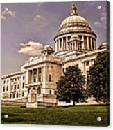 Old Rhode Island State House Acrylic Print by Lourry Legarde