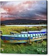 Old Row Boats Acrylic Print