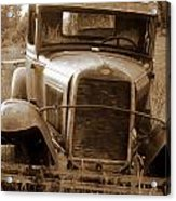 Old Rustic Ford-sepia Acrylic Print
