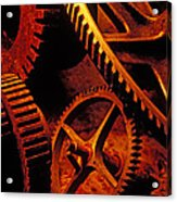 Old Rusty Gears Acrylic Print by Garry Gay
