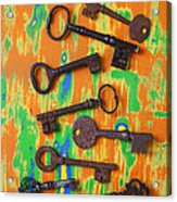 Old Rusty Keys Acrylic Print