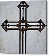 Old Rusty Vintage Cross Acrylic Print