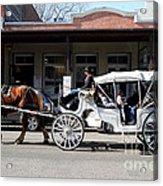 Old Sacramento California . Horse Drawn Buggy . 7d11482 Acrylic Print by Wingsdomain Art and Photography