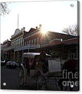 Old Sacramento California In Partial Silhouette . 7d11719 Acrylic Print