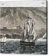 Old Sail Ships Galapagos Island Isabela Acrylic Print