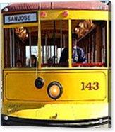 Old San Jose Railroads Cablecar Trolley 143 . San Jose California . 7d12963 Acrylic Print