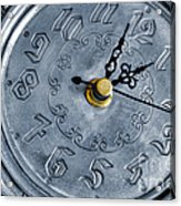 Old Silver Clock Acrylic Print
