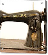 Old Singer 2 Acrylic Print