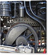 Old Steam Locomotive Engine 1258 . Wheels . 7d13001 Acrylic Print