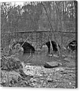 Old Stone Bridge Over The Unami Creek - Sumneytown Pa Acrylic Print