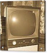 Old Television Acrylic Print by Shannon Harrington