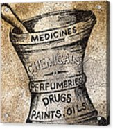Old Time Medicine Ad Acrylic Print by Wendy White