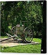 Old Time Pump Wagon Acrylic Print