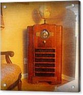 Old Time Radio Acrylic Print by Paul Ward