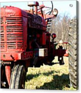 Old Time Tractor Acrylic Print