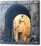 Old town gate 1 Acrylic Print