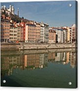Old Town Of Lyon Acrylic Print