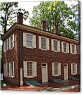 Old Town Philadelphia Brownstone House Acrylic Print