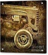 Old Tractor Acrylic Print by Bernard Jaubert