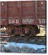 Old Train Boxcar Acrylic Print