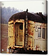 Old Train Car Acrylic Print