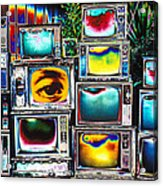 Old Tv's Abstract Acrylic Print
